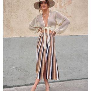 NEVER WORN Express x Rocky Barnes Striped Skirt